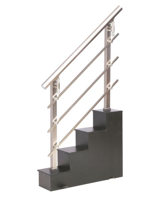 Modelo 5 barandillas aluminio inoxidable barandillas for Escaleras de aluminio para interiores