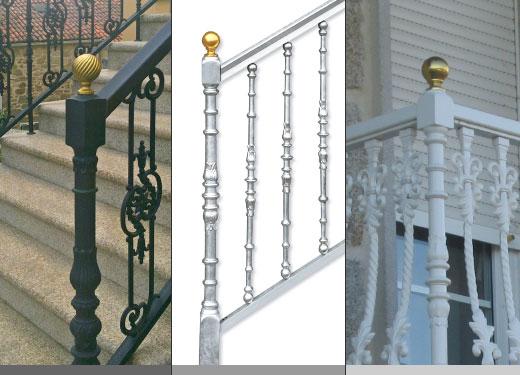 Ar07 arranque flor 100 columnas aluminio - Barandas de forja para escaleras ...