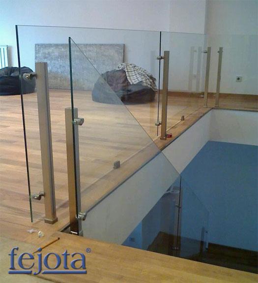 Pinzas regulables para barandillas y cerramientos de - Escaleras con barandilla de cristal ...