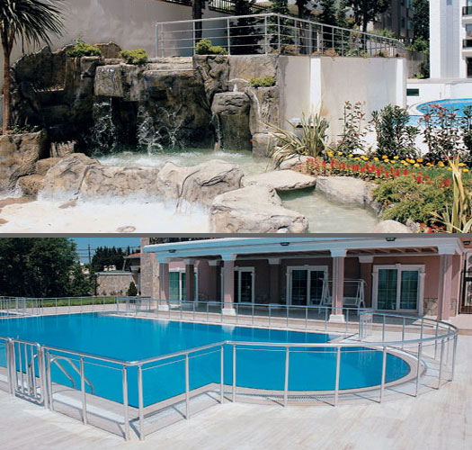 Barandillas inox tipo kit para exterior de aluminio for Barandilla piscina