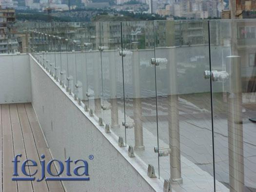 Pinzas regulables para barandillas y cerramientos de for Cerramientos en aluminio y vidrio